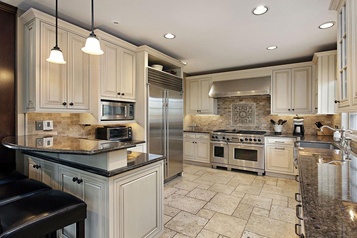 Design ideas - luxury kitchen with breakfast bar